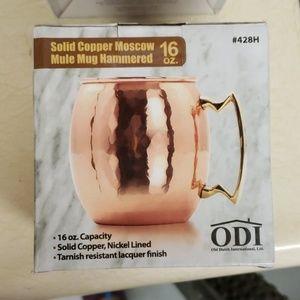 Copper Moscow Mule Mug Hammered - Set of 2 - 16OZ